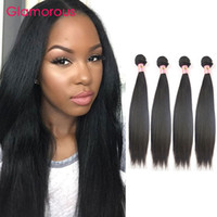 Wholesale Wholesale Brazilian Hair For Sale - Glamorous Hair Products 100% Unprocessed Human Hair Bundles 4Pcs LOT Malaysian Brazilian Indian Peruvian Straight Human Hair Weaves for Sale