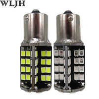 Wholesale P21w Red - WLJH Canbus 1156 P21W BA15S 2835 SMD Car LED 12v External Stop Brake Rear Tail Light Bulb Backup Reverse Light Turn Signal Lamp