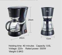 Wholesale Moka Coffee - New 2016 Portable Coffee Mill Drip Coffee Maker Automatic Electric Coffee Machine 6 Cups Coffee Grinder Stainless Moka Maker