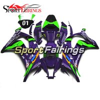 Carrinhos para Kawasaki ZX10R 2011 - 2015 11 12 13 14 15 Eva Racing Purple Injection ABS Plastic Motorcycle Bodywork Cowlings Body Fittings