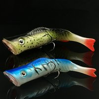Wholesale Hard Lure Bodies - Long Range Casting Fishing Soft Tail Popper 11.5cm 17g Hard Body Bait Artificial Popper Lures Noisy Steel Balls