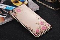 placa de iphone 5c al por mayor-Cubierta suave de TPU para Iphone 7 Plus 8 OPPO R9 Huawei P8 P9 Lite 6 7 8 5A 5C 5X Diamante Bling Jardín secreto Flor de mariposa Cubierta de piel