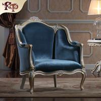 Wholesale luxury classic furniture resale online - Antique living room furniture European Classic sofa set with gold leaf gilding Italian luxury classic furniture