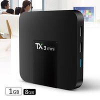 Wholesale 2gb Usb - tx3 mini android 7.1 tv box quad core Amlogic s905w KD17.3 unlocked pre-loaded 1GB 8GB bet MXQ 4K rk3229