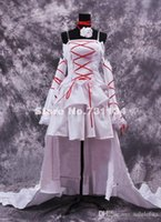 Wholesale Discounted Lolita Dresses - 2016 New Discount Anime Women Alice Cosplay Dress White Rococo Lolita Dress With Long Tailing