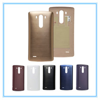Wholesale New G3 - Original New Parts Rear Back Battery Door With NFC Antenna For LG G3 D855 D850 D851 Black White Gold Back Cover Housing Case Free Shipping
