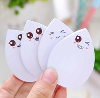 Wholesale Post Office Labels - DIY water drop face smily memo pad Sticky label post it school sticky note for school office supplies stationery