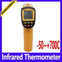 Wholesale Termometro Infrared - heat thermometer Non-Contact termometro Professional Temperature Tester Pyrometer Range GM700
