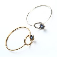 Wholesale D Ring Bracelet - Bracelets for women D-shaped exotic Fatima palm bangles Retro alloy Europe fashion bangle bracelets