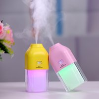 Wholesale rohs atomizers for sale - Group buy 1200MA Rechargeable Built in Lithium Battery USB Air Humidifier with Colorful LED Mood Lamp Portable Mini Ultrasonic Water Fogger Atomizer