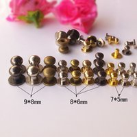 Wholesale 5mm dome rivet for leather craft accessories screwback studs for pet necklace copper material silver gunblack gold bronze