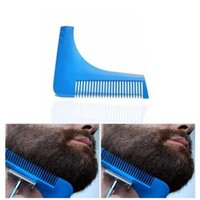 Wholesale tools for cutting hair - 10 Colors Beard Bro Beard Shaping Tool for Perfect Lines Hair Trimmer for Men Trim Template Hair Cut Men Modelling Comb CCA7659 200pcs