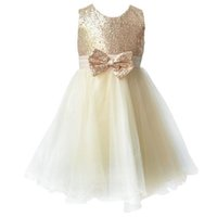 Wholesale girls sequin knee length pageant dress resale online - 2016 Little Girls Pageant Dresses Knee Length A Line Flower Girls Dresses White Jewel Baby Dresses Lace Dresses