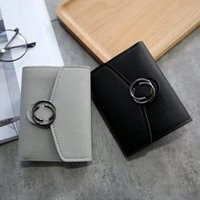 Wholesale Cheap Colorful Handbags - High quality 5 colors women short wallet Small Colorful foldable Multiple function girls cheap handbags card Holders bag