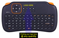 Wholesale Keyboard Panel - 10pcs S1 92keys 2.4G mini wireless keyboard remoter combo controller air fly mouse keyboard with touchpad touch panel TV box PC IPTV