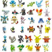 figura de pokeball venda por atacado-24 pçs / set 2-3 cm Pokeball Figuras Bonito Mini Pikachu Figuras Monstro Modelo Brinquedos Aleatórios Brinquedos Coleção Anime Crianças Brinquedos