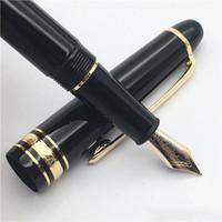 ingrosso fontana di lusso-MB alta qualità miglior design di lusso 145 oro / argento penna stilografica clip per le migliori forniture scolastiche ufficio dono