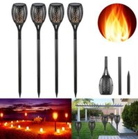 Solar Flame Lights Outdoor Luci di Natale a LED Solar Powered LED Torch Light Flame Flickering Garden Pathway Lampada impermeabile CCA8303 10pcs