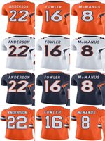 Bronco # 16 Bennie Fowler # 22 C.J. Anderson # 8 Brandon McManus Uomo Donna Gioventù Vapor Untouchable Color Rush Custom Elite Football Jersey