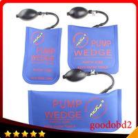 Wholesale Pick Locked Car Door Tools - Wholesale-Professional Lock Pick Diagnostic Tool KLOM pump Air wedge airbag LOCKSMITH TOOLS unlock vehicle car door tool 3pcs lot blue