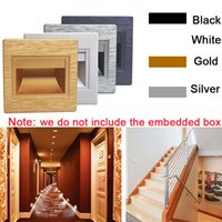 Wholesale 2 W Led Wall Plinth Recessed Stairs Step Light Hall Porch Restroom Footlight Aisle Corner Hallway Corridor Lamps