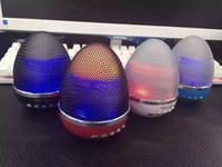 Wholesale Egg Beat - Newest Pulse LED Light Speaker WS-1802 Egg Style Stand Mini Protable Speaker Super Bass Metal Mini Portable Beat Hi-Fi Bluetooth Handfree