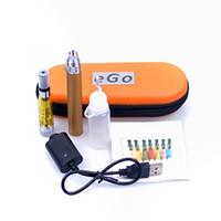 Wholesale Metal Zipper Cheap - cheap ego CE5+ kits CE5+ CE5 plus Atomizer 650mah 900mah 1100mah battery electronic cigarette kit with black zipper Case DHL Free