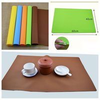 Wholesale Wholesale Baking Supplies Silicone - Super big soft antiskid thickening Baking mat High temperature resistance Dinner mat Kitchen supplies Silicone pad IA843