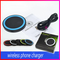Wholesale Uk Cellphone Chargers - Qi Wireless Charger Cell phone Mini Charge Pad Device Samsung Nokia Htc LG Cellphone with Retail Package