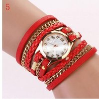 Wholesale Watches For Sale Wholesale - HOT SALE Wristwatch Fashion LOVER Quartz leather Watch Women's Watches 10 Colors for lady gif