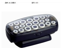 Wholesale Tool Battery China - Hot Professional 20-Rollers Hairsetter Instant Heat Ceramic Flocked Rollers DIY Magic Leverag Curlers Hair Styling Tools HC005