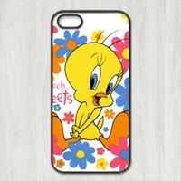 Wholesale S3 Case Bird - Wholesale-Tweety Bird cartoon cases for iPhone 4s 5s 5c 6 6s Plus iPod touch 4 5 6 Samsung Galaxy s2 s3 s4 s5 mini s6 s7 edge note 2 3 4 5