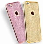 For Apple iPhone case shine - Luxury Shining Electroplating Bling Glitter TPU Case For iPhone plus S Plus