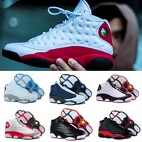 High Quality Air Retro 13 XII Men Women Basketball Shoes Bred Navy Jogo Hologram Gray Toe Flint Athletic Sports Outdoor Sneaker Boots VENDA