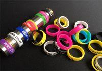 Wholesale Apollo Cigarette - Colorful Non-Slip Silicone Ring for e Cigarette Mod Vapor Silicone Band Vape Ring Non-Skid Silicon Ring for Mahattan Apollo Subtank