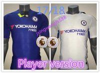 Wholesale Chelsea Player - thai quality soccer jerseys 2017 2018 Chelsea Player version Home Away Futbol Camisa 17 18 Hazard Morata Fàbregas Kanté Football Shirts
