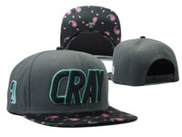 Wholesale Cray Hat - 2016 new brand gray cray baseball snapback hats and caps for men fashion sports hip hop cap mens summer sun hat good quality bone gorras