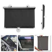 Venta al por mayor- 40cmx60cm Retractable Car Window Sun Shade Auto Visor Frontal Parabrisas UV Proteger Car Cover-styling