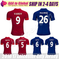 Wholesale Soccer Jersey Man City - Leicester City shirts 2016-17 Leicester City Football Jersey Top quality VARDY MAHREZ DRINKWATER KANTE KING Soccer Jersey Free Shipping