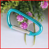 Wholesale Cheap Wall Hooks - 5# Small multi-purpose mini carabiner Aluminum quickdraw Climbing Carabiners Outdoor Gear Climbing Hook fit Outdoor Sports cheap 250001