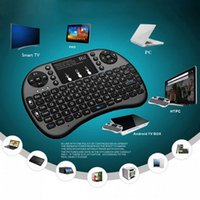 Wholesale Hot Rii - New Hot Black 2.4G RF Rii mini i8+ Wireless Keyboard Touch Pad mouse Backlit gaming Keyboard for HTPC Tablet Laptop PC Teclado
