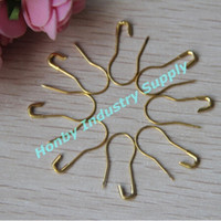 Wholesale Wholesale Safety Pins Nickel - Wholesale 10 boxes 22mm gold colored bulb shape hang tag safety pin nickel and lead free