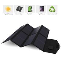 dizüstü şarj cihazları toptan satış-Güneş Paneli 40 W USB + DC Çift Çıkışlı Güneş Paneli Şarj iPhone iPad Macbook Samsung Sony VAIO Dell HP Acer Lenovo Asus vb.