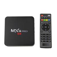 Wholesale Tv Hdmi Sale - Factory Sale MXQ Pro Smart Android 5.1 TV Box Rockchip RK3229 Quad Core Google Set Top Box Fully Loaded