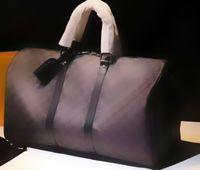 Wholesale Tartan Handbags - Top Quality Keepall Duffel Bags Brand Designer Handbag for Man Women Genuine Leather Plaid Tartan Luggage Bag 45 50 55cm for choose