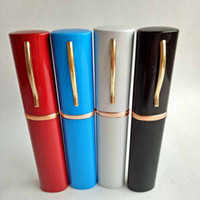 Wholesale Wholesale Pen Display Box - New Arrival Smoking Metal Aluminium Reggae smoking Water Pipes Pen cap shaped loop style Pipe 4 colors with display box Hookahs Tools