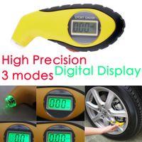 автомобильные огни оптовых-5.0-100PSI ЖК-цифровой Шин Шин манометр тестер ночного света инструмент для авто автомобиль мотоцикл PSI, кПа, бар