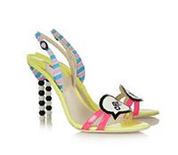Wholesale Cute Summer Heels - Summer Fashion Princess Shoes Black White Beads Cute Design Ankle-wrap Stiletto Heel Shoes Sexy Women Sandal