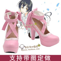 Wholesale Valentines Costume Accessories - Wholesale-Lovelive Yazawa Nico Valentines Day cosplay cos shoes K25
