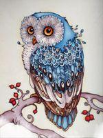 Wholesale Canvas Paste - Owl Diamond Embroidery Mosaic Wall Decor DIY Rhinestones Pasted Diamond Painting Cross Stitch Animal Series Needle Gifts r004